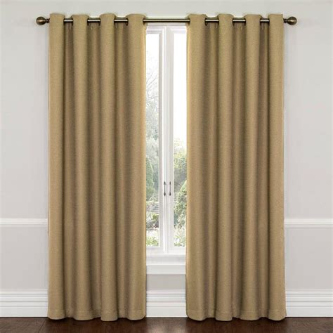 blackout curtains 95 length eclipse wyndham blackout latte curtain panel 95 in
