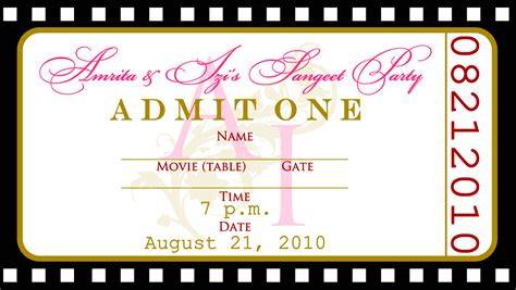 Free Templates For Birthday Invitations Drevio Invitations Design Free Ticket Template