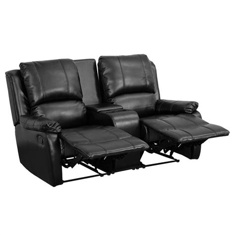 recliner seat theaters 2 seat home theater recliner in black bt 70295 2 bk gg