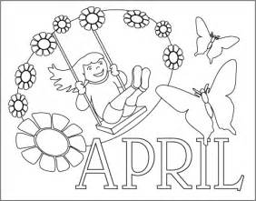 april coloring pages coloring pages april time coloring pages collections