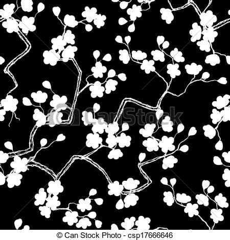 cherry pattern vector art eps vector of cherry blossoms seamless pattern background