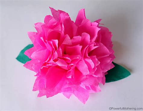 How To Make Flower From Crepe Paper - how to make crepe paper flowers tutorial