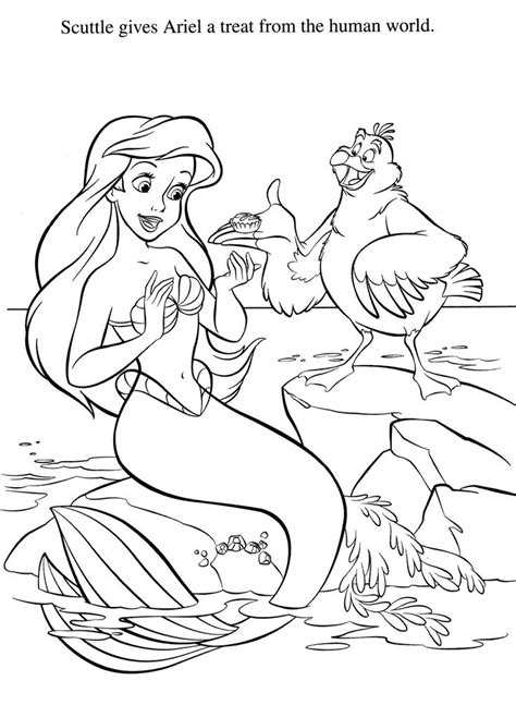 the little mermaid coloring pages scuttle the little mermaid coloring pages scuttle www pixshark