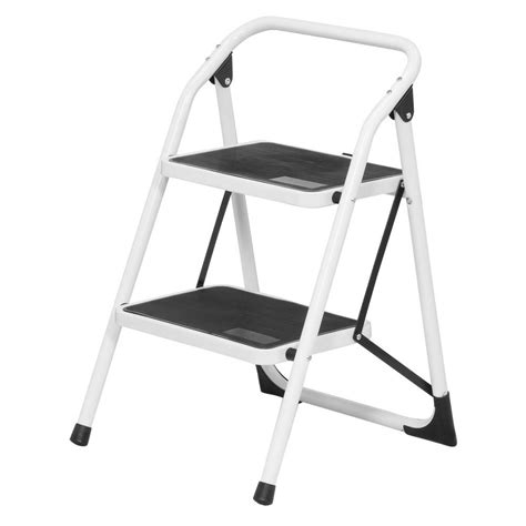 2 Step Stool Ladder by Buffalo Tools 2 Step Steel Utility Ladder With 300 Lb