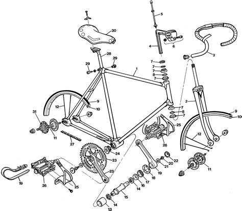 parts of a diagram bicycle parts diagram diagram site
