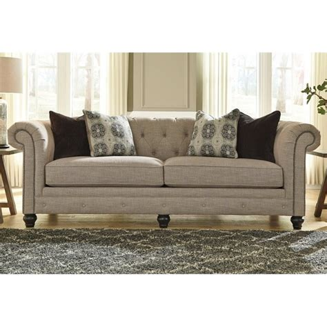 ashley fabric sofa ashley azlyn fabric sofa in sepia 9940238