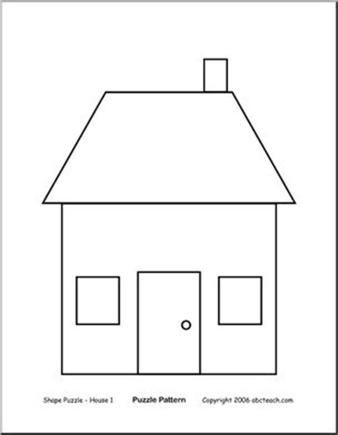 shape of house shape puzzle house b w easy cut out the shapes and