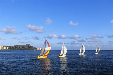 sailboats oahu hawaii sailboats photograph by joss