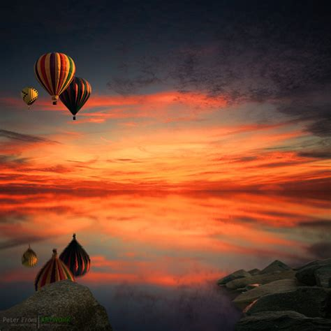 Blue And White Painting 40 wonderful hot air balloon photographs for your inspiration