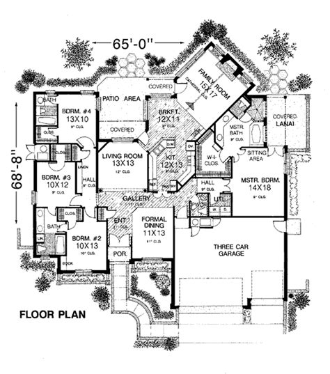 european house floor plans house plan 98511 at familyhomeplans com
