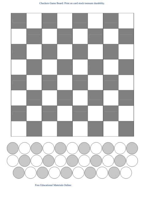 checkers board template checkers board template b w printable pdf