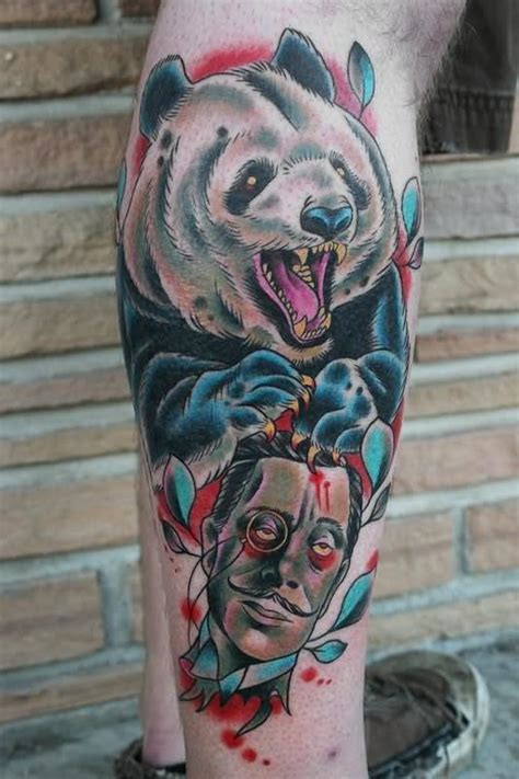 panda tattoo realistic 14 panda tattoos ideas for legs