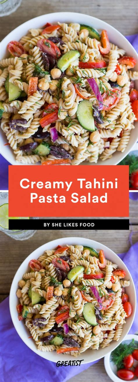 Would You Eat This Tahini Pasta by Healthy Pasta Salad Recipes For And Summer Greatist