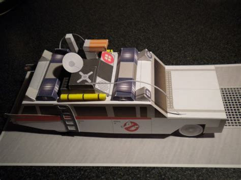 Ghostbusters Papercraft - captaingraygor s my papercraft minimates ecto 1prototype