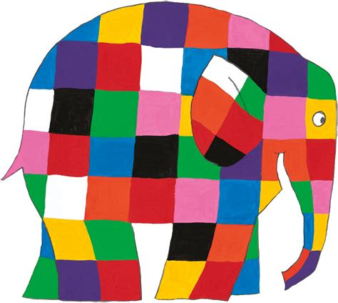 Patchwork Elephant - elmer the patchwork elephant