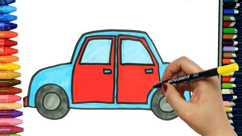 Auto Malen Youtube by Wie Zeichnet Man Auto Ausmalen Kinder Kindervideos