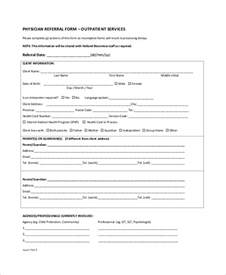 referral form template sle referral form 10 exles in word pdf