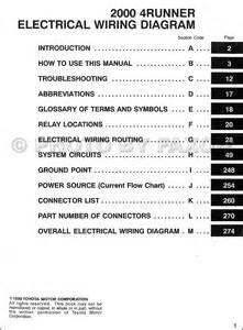 2000 toyota 4runner wiring diagram manual original