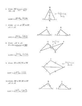 Sss Sas Aas Hl Worksheet by Geometry Unit 8 Congruent Triangles Informal Proofs Sss