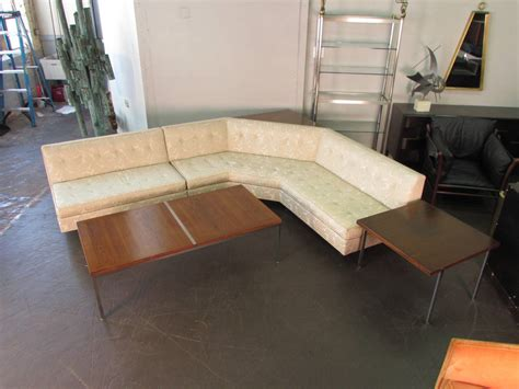 l shaped sofa table signed harvey probber l shaped sofa with sofa table 1965