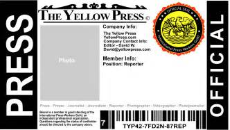 free press pass the yellow press