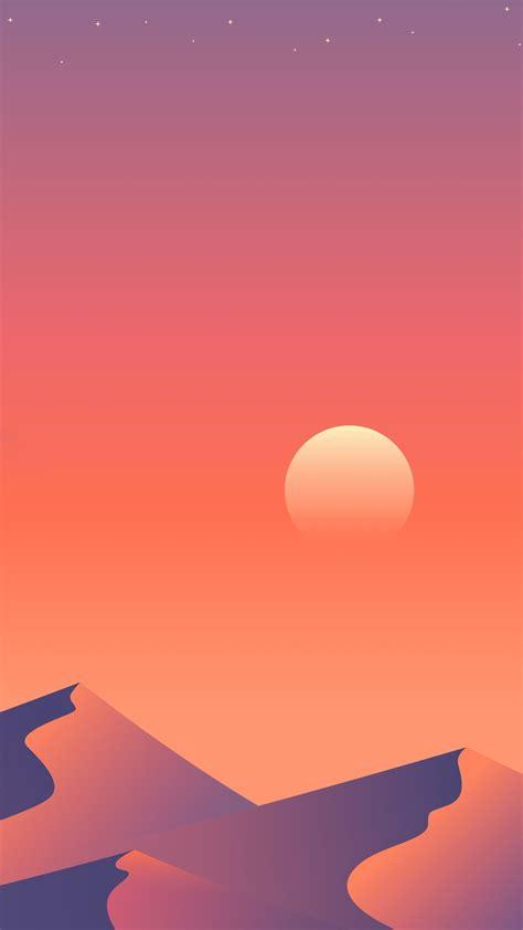 desert sun day minimalism  wallpaper