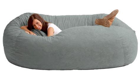 large bean bag sofa huge bean bag sofa fuf 7 ft l comfort suede bean bag sofa