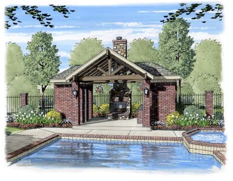 Outdoor Living House Plans by 13 Pool Pavilion Designs Images Backyard Pool Pavilion