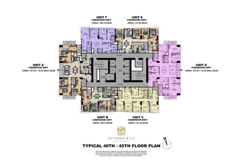 penthouse layouts uptown ritz penthouse floor plan megaworld condominiums