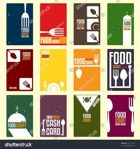 food court menu design food court cash card menu card stock vector 196151033