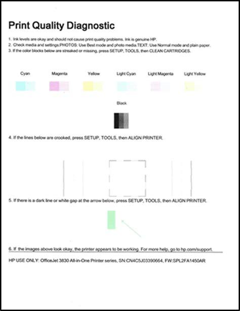 printable jealousy quiz hp deskjet envy officejet printers printing self test