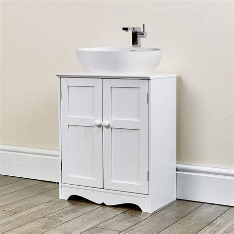 Oxford White Under Sink Storage Unit Abreo Home Furniture Bathroom Storage Unit White