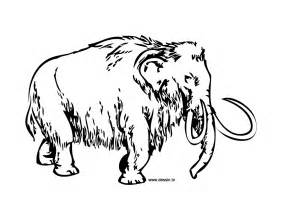 mammoth colouring pages