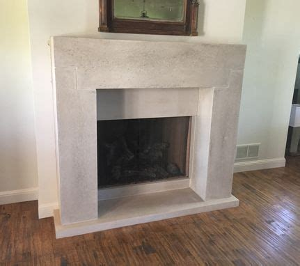 custom concrete fireplace mantels by effects