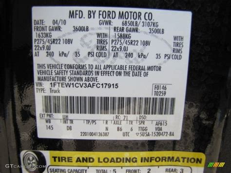 ford tuxedo black metallic paint code 2010 f150 color code uh for tuxedo black photo 73225983