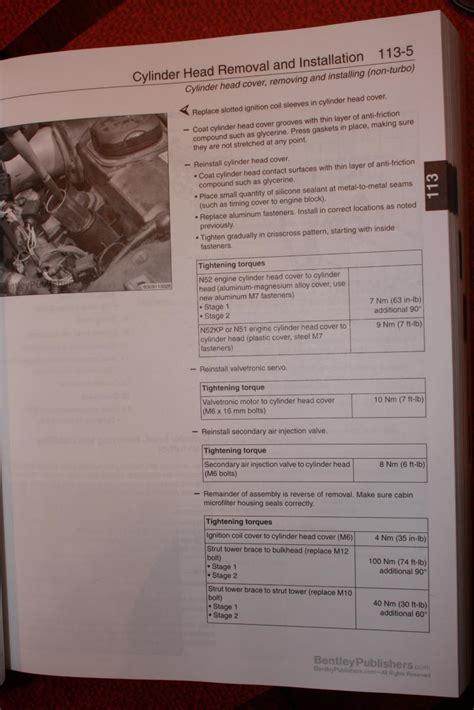 engine bolt torque specs valve coverhead bolts