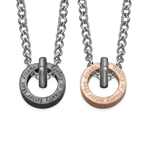 circle shaped his and hers necklaces mynamenecklace