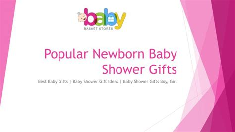 common baby shower gifts ppt popular newborn baby shower gifts powerpoint