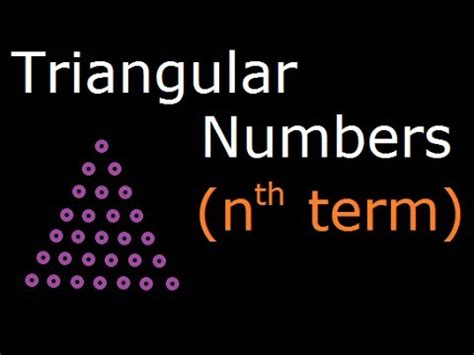 nth term triangular pattern triangular number