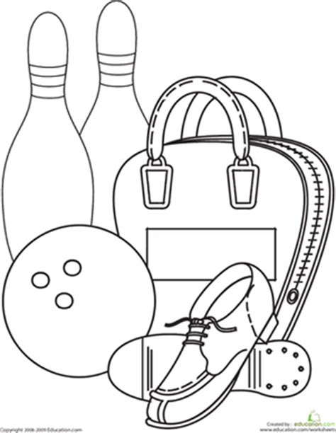coloring pages bowling balls pins bowling worksheet education com