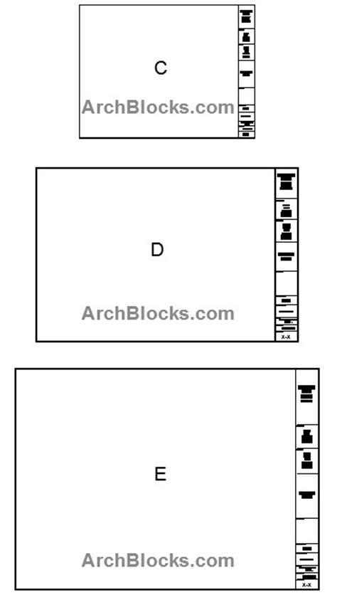 Auto Cad Block Library Auto Cad Symbol Library Architectural Symbols Autocad Title Block Template