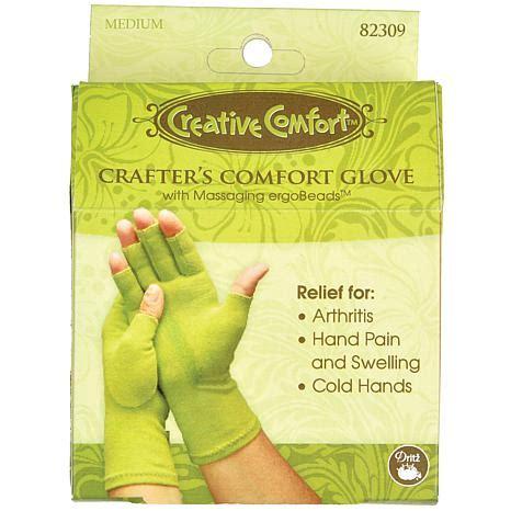 creative comfort crafter s comfort glove medium 6802602 hsn
