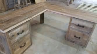 Reclaimed Wood Corner Desk Reclaimed Barn Wood Corner Desk Free Shipping Rbwcd1300f