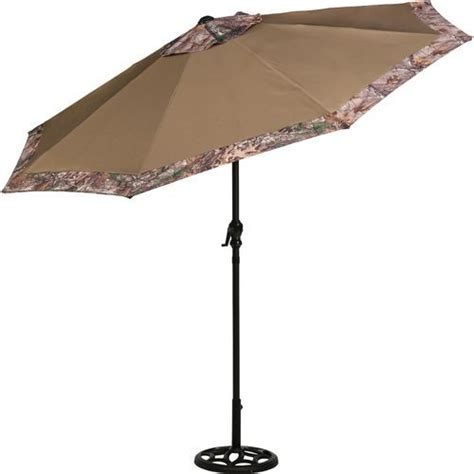 the mosaic 9 steel camo market umbrella features a