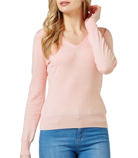 Sweater V Neck 30 pale pink 30 silk 70 cotton womens silk and cotton sleeve v neck sweater