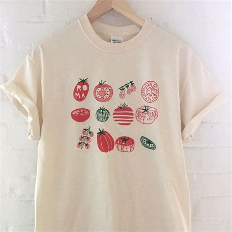 Kaos Band Artic Monkey Gildan Softstyle White Original tomato varieties screen printed t shirt vegetable by