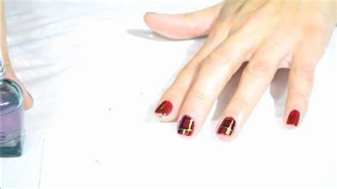 nail art tartan tutorial decorazioni unghie nail art tartan