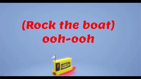 don t rock the boat baby rock the boat don t rock the boat baby the hues