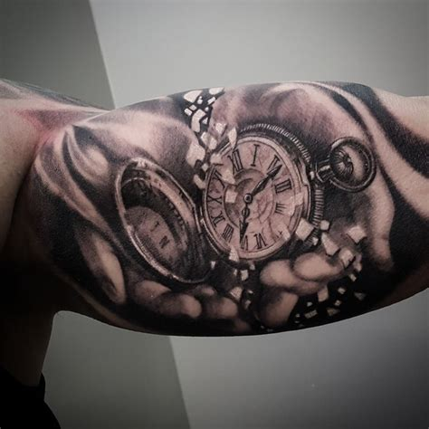 pocketwatch timepiece tattoo by matt parkin art soular