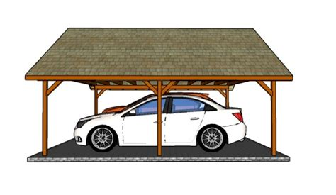 two car carport plans how to build a double carport howtospecialist how to